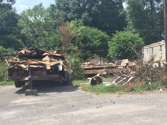 vacant mobile home park lot