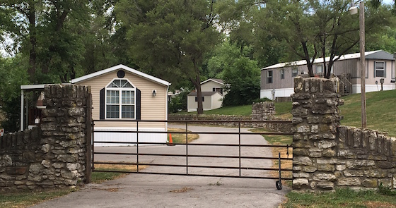 gated mobile home community