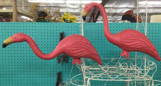mobile home park flamingos