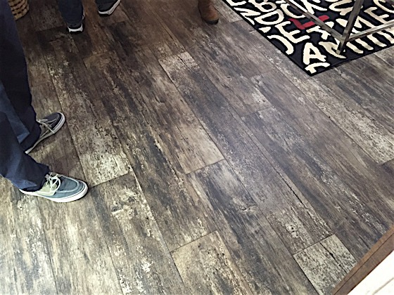 Dark Wood Floors In Mobile Home