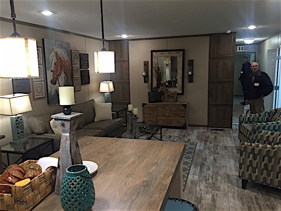 Great Staging In Mobile Home