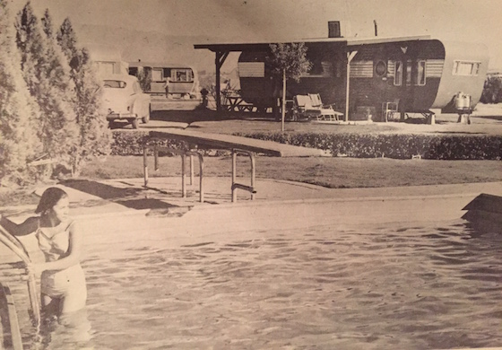 Old Mobile Home Park Swimming Pool
