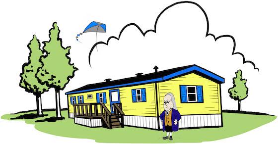 Ben Franklin In A Mobile Home Park