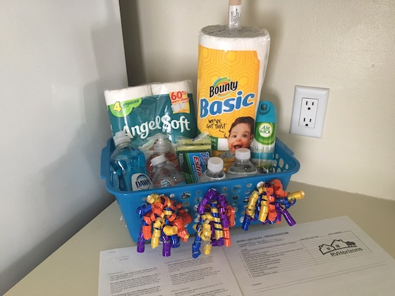 Mobile Home Welcome Basket