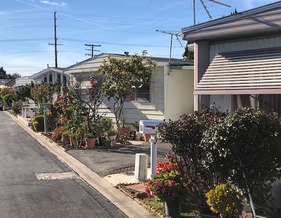 landscaped mobile home park