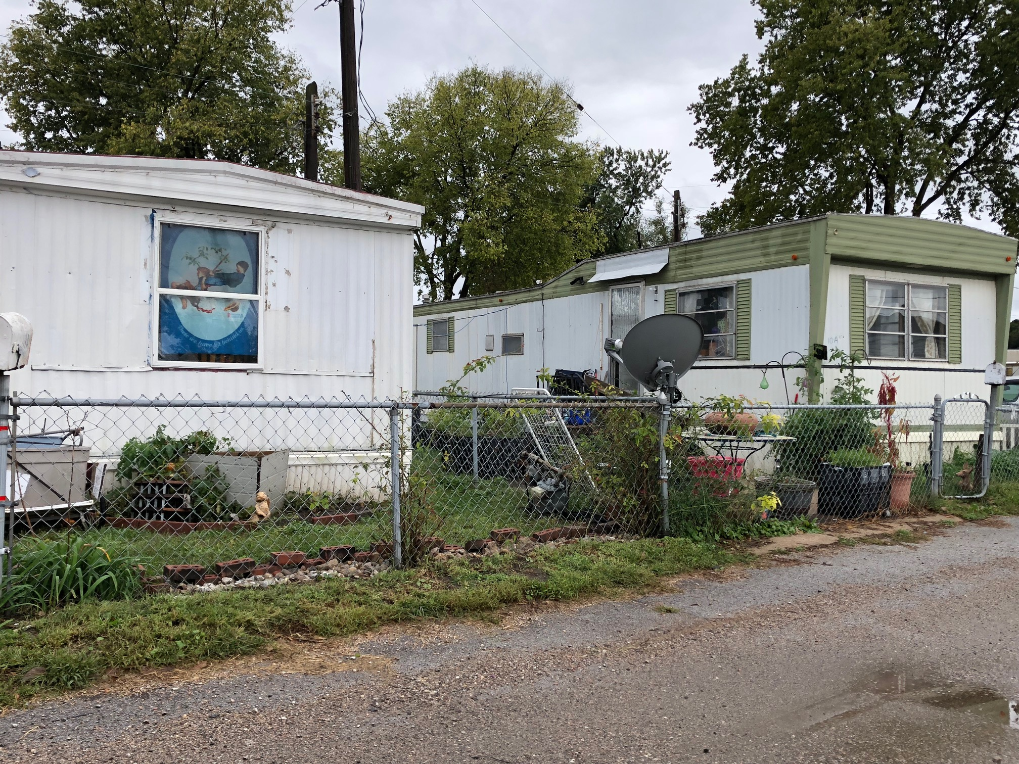 old mobile home park