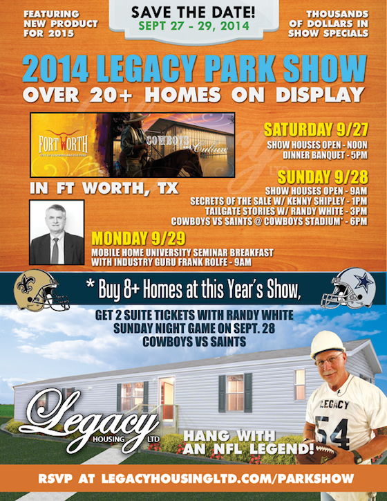 Legacy Mobile Home Show
