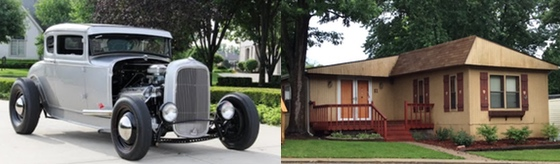 mobile home customized and hot rod