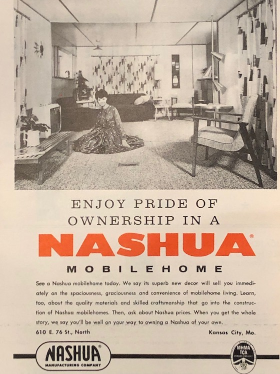 1962 Nashua Mobile Home Ad