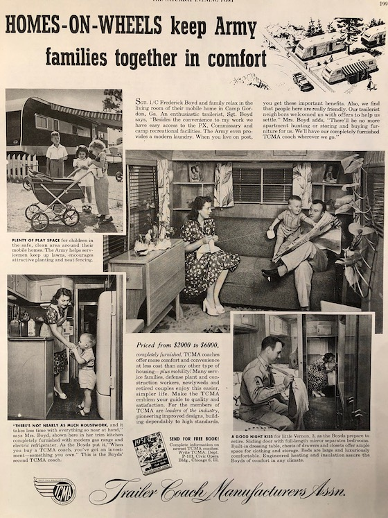army mobile home ad