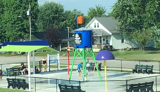 mobile home park splash pad