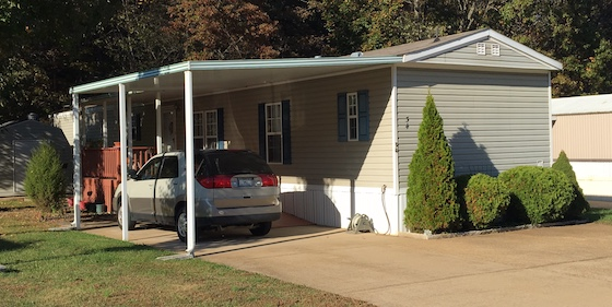 Mobile Home Park Carport