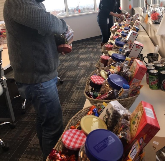 donating food to residents impact cares