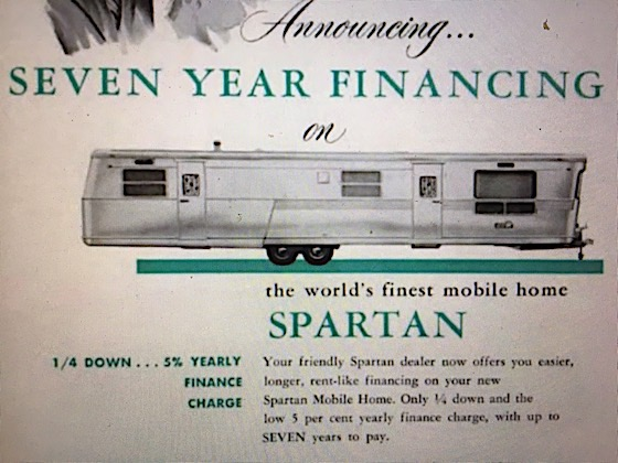 seven year mobile home financing ad