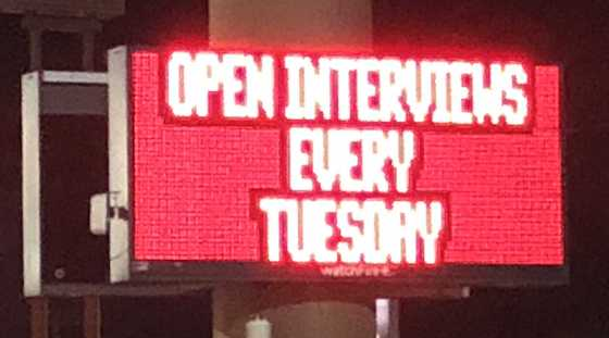 interviews sign