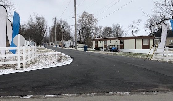 mobile home park paved roads