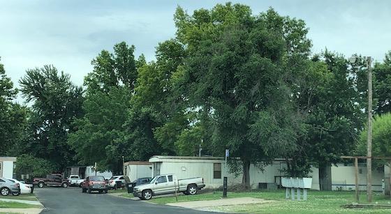 rundown mobile home park