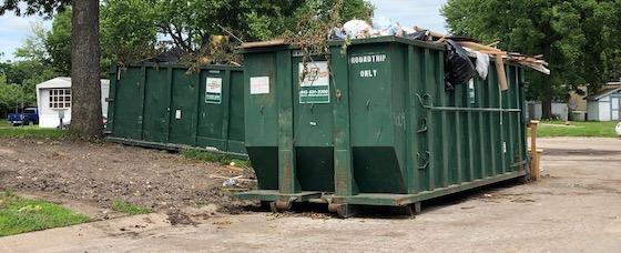 trailer park dumpsters