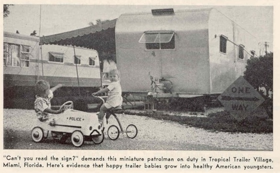 mobile home park from the 1960s