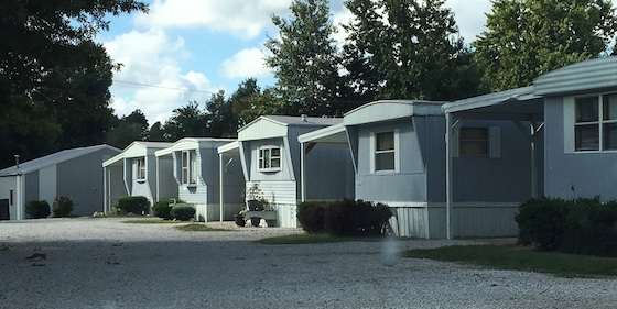 grey mobile home park