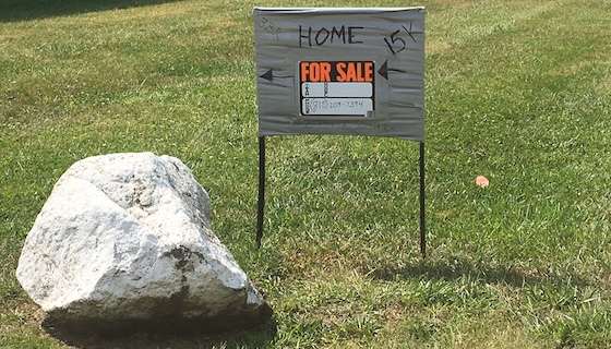 mobile home for sale sign