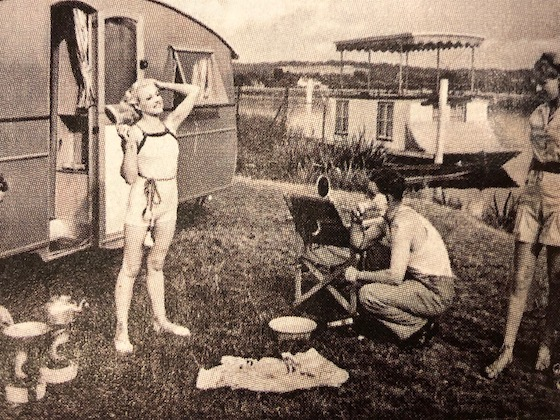trailer park in the 1950's
