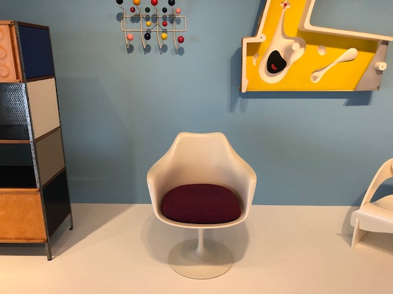 white chair in museum