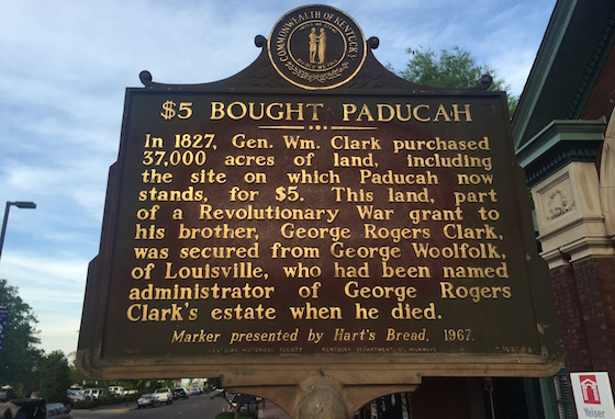 paducah historic sign