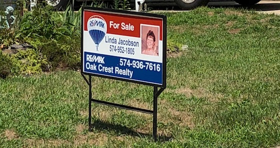 mobile home park realtor sign