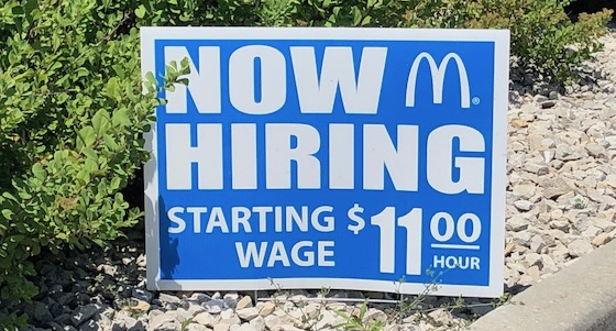 McDonalds Hiring Sign